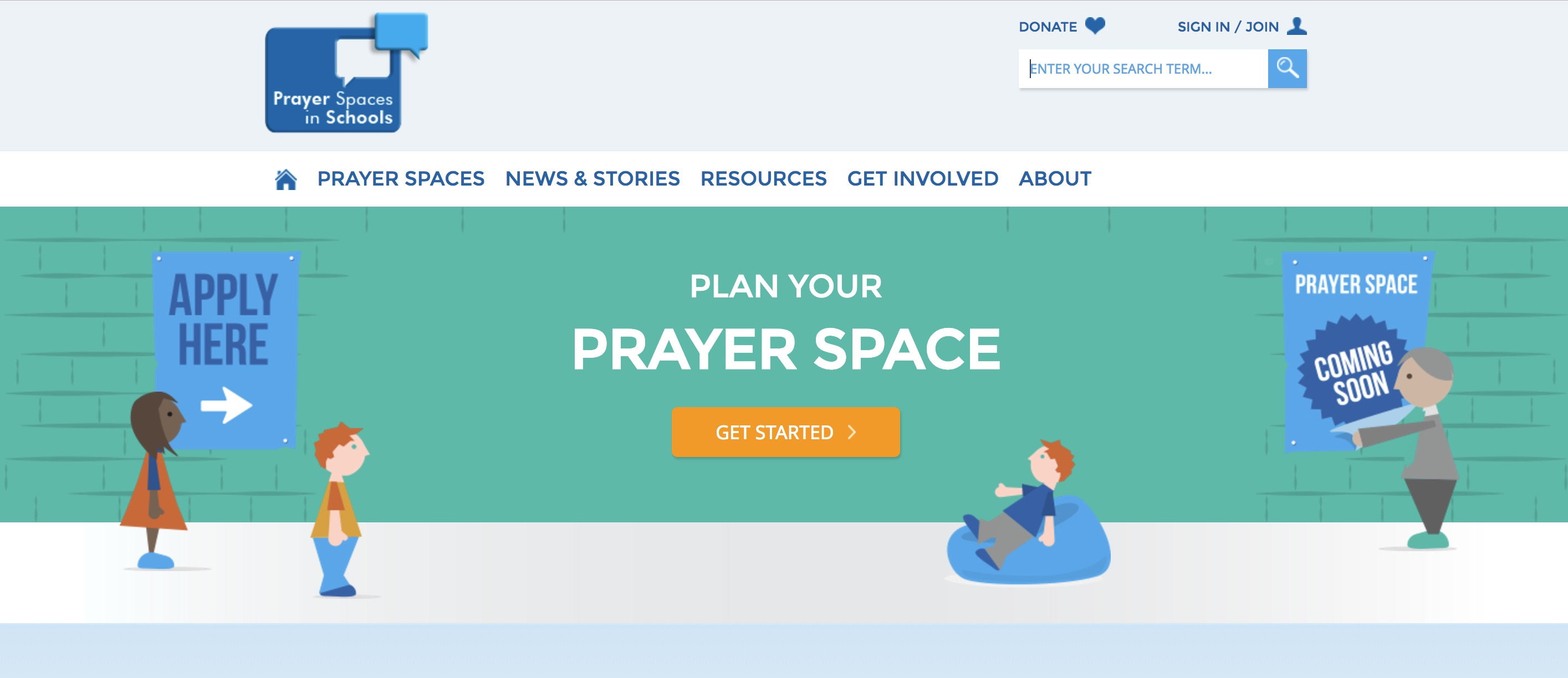 Prayer spaces in schools website